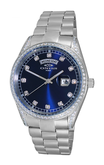 AUSTRIAN CRYSTAL ACCENT, MOTHER OF PEARL DIAL,  ON3882-MBU -  RETAIL  AT $ 375.00