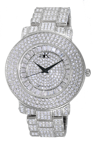 Austrian Crystal Accent on the case and band and dial, Rose tone , AK9-27M/CR - Retail at $500.00
