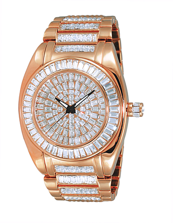 AUSTRIAN CRYSTAL ACCENT, RHODIUM PLATED ROSE TONE, AK6175-MRG, RETAIL AT $495.00
