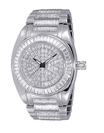 AUSTRIAN CRYSTAL ACCENT, RHODIUM PLATED SILVER TONE, AK6175-M, RETAIL AT $495.00