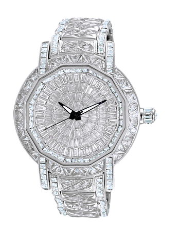 AUSTRIAN CRYSTAL ACCENT, RHODIUM PLATED SILVER TONE, AK8195-M, RETAIL AT $495.00