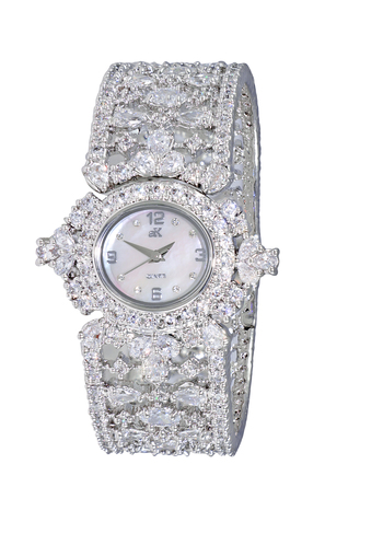 AUSTRIAN CRYSTAL, MOTHER OF DIAL, BANGLE WATCH, AK9117-L, Retail at $575.00