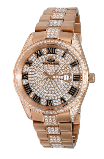 AUSTRIAN CRYSTAL, PAVE DIAL, JAPAN QUARTZ MOV'T. - ON3880-MRG , RETAIL AT $570.00