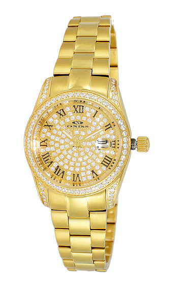 AUSTRIAN CRYSTAL, PAVE DIAL, ON3886 (RGWT), RETAIL AT $345.00