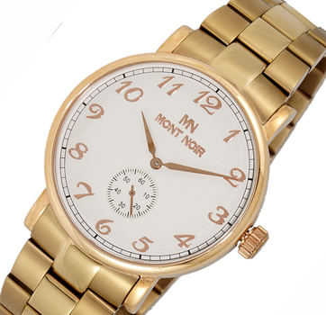 AUTOMATIC 20 JEWELS MOVEMENT, MINERAL CRYSTAL, STAINLESS STEEL BAND, MN9061-MBRG/SV, RETAIL AT $695.00