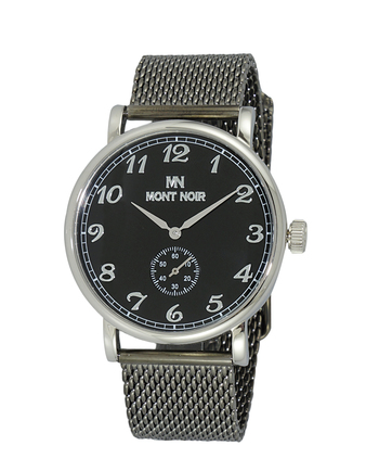 AUTOMATIC 20 JEWELS MOVEMENT, MINERAL CRYSTAL, STAINLESS STEEL MESH BAND, MN9061-MSVBK/IPG-MESH RETAIL AT $695.00
