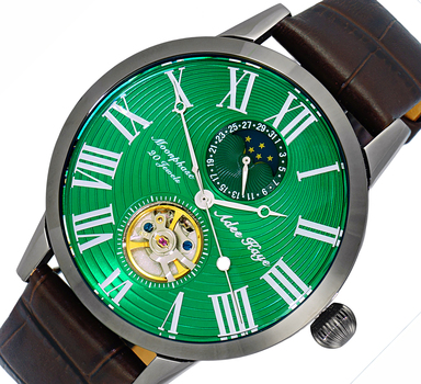 Automatic 20 Jewels  Movement with Moon Phase Complication, AK2269-15IPGN-BN -  RETAIL AT $645.00