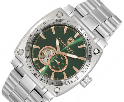 Automatic -21 JEWLES, with  Skeleton Heart Beat and Exhibition back case,  LC1S666R-GN - Retail at (MSRP: $2,304.00)