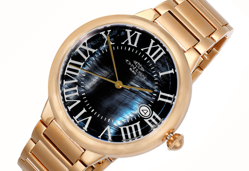 Automatic -24 Jewel , Mother of Pearl  - Date Dial,  ON2222-RGBKSV-GO, Retail at (MSRP: $620.00)