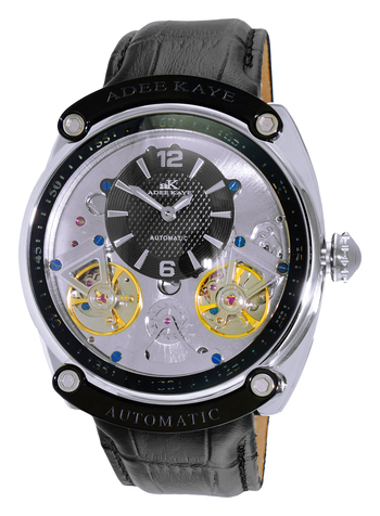 AUTOMATIC - 40 JEWELS w/ 2 HAND DOUBLE FLY WHEEL AND 48 HRS POWER RESERVE, AK2288-MBK , RETAIL AT $745.00