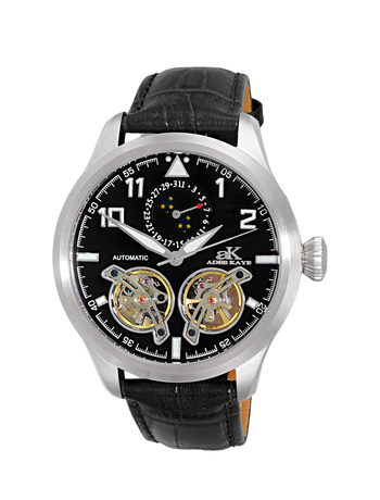 Automatic - 45 Jewels  JHLS515 double barrel,Moon Phase ,  AK5663-MBK , RETAIL AT $800.00