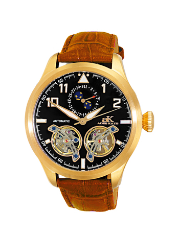 Automatic - 45 Jewels  JHLS515 double barrel,Moon Phase ,  AK5663-MG , RETAIL AT $800.00