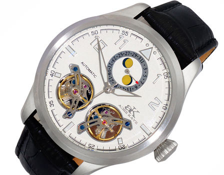Automatic - 45 Jewels  JHLS515 double barrel,Moon Phase ,  AK5663-MSV , RETAIL AT $800.00