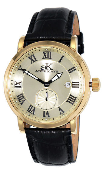AUTOMATIC MOVEMENT, MENIRAL CRYSTAL, GENUINE LEATHER BAND, AK9060-MG, RETAIL AT $495.00