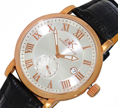 AUTOMATIC MOVEMENT, MENIRAL CRYSTAL, GENUINE LEATHER BAND, AK9060-MRG/SV , RETAIL AT $600.00