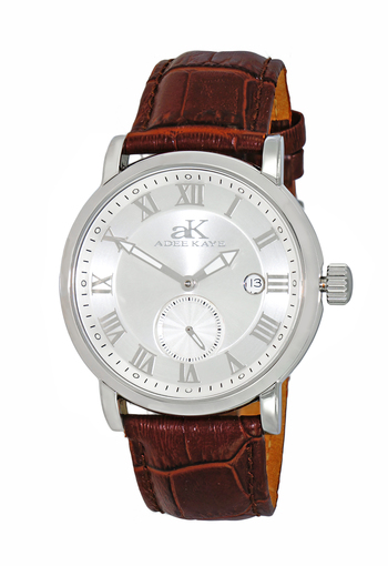 AUTOMATIC MOVEMENT, MENIRAL CRYSTAL, GENUINE LEATHER BAND, AK9060-MSV-BN , RETAIL AT $600.00