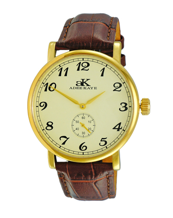 AUTOMATIC MOVEMENT, MENIRAL CRYSTAL, GENUINE LEATHER BAND, AK9061-MGG RETAIL AT $495.00