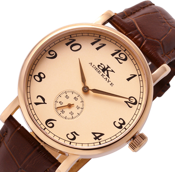 AUTOMATIC MOVEMENT, MINERAL CRYSTAL, GENUINE LEATHER BAND, AK9061-RGRG RETAIL AT $495.00