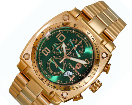 Chronograph, Carbon Fiber Sunray -Date Dial C1R555GN Retail at (MSRP: $2,004.00)