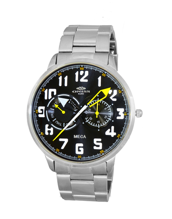 CHRONOGRAPH DAY-DATE DIAL, ON2233-MBK/GN RETAIL AT $375.00