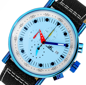 CHRONOGRAPH MOVEMENT, MULTI- COLOR HANDS , AK2267-70_IPLBU - RETAIL AT (MSRP: $600.00)