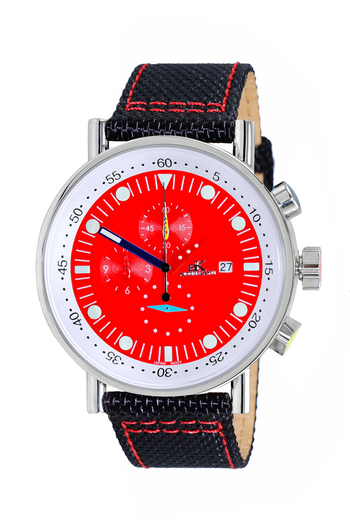 CHRONOGRAPH MOVEMENT, MULTI- COLOR HANS , AK2267-40_RED - RETAIL AT $600.00