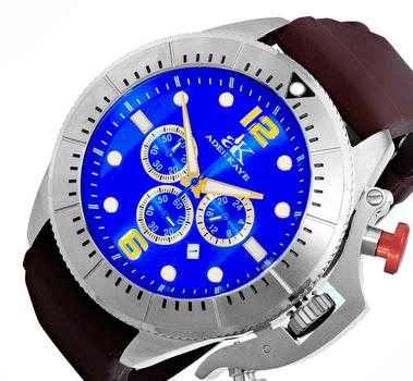 Chronograph Movement, Rotating beze, w/ designed crown protector, AK9041-MBU-GO_BN , Retail at $625.00