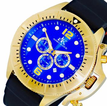 Chronograph Movement, Rotating beze, w/ designed crown protector, AK9041-MGBU/RB-SRD , Retail at $625.00