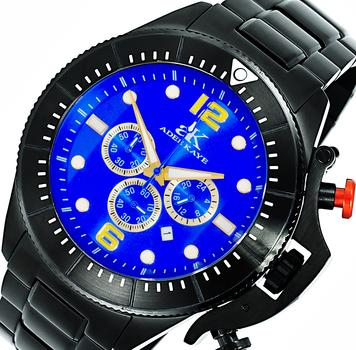 Chronograph Movement, Rotating bezel, w/ designed crown protector, AK9041-MIPB/BUG , Retail at $625.00