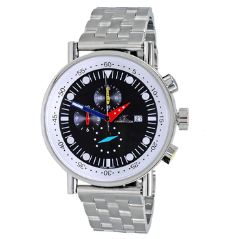 CHRONOGRAPH MOVEMENT, STAINLESS STEEL CASE AND BAND,  MULTI- COLOR HANDS , AK2268-10_BK - RETAIL AT $675.00