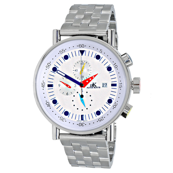 CHRONOGRAPH MOVEMENT, STAINLESS STEEL CASE AND BAND,  MULTI- COLOR HANDS , AK2268-30_SV - RETAIL AT $675.00