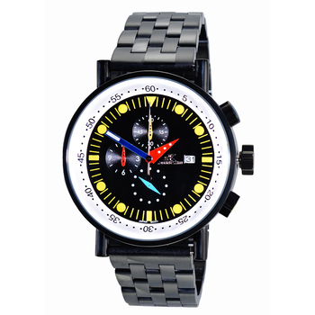 CHRONOGRAPH MOVEMENT, STAINLESS STEEL CASE AND BAND,  MULTI- COLOR HANDS , AK2268-60_IPB - RETAIL AT $675.00