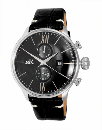 CHRONOGRAPH MOV'T,  DAY-DATE COUNTER, AK2376-MBK, RETAIL AT $495.00