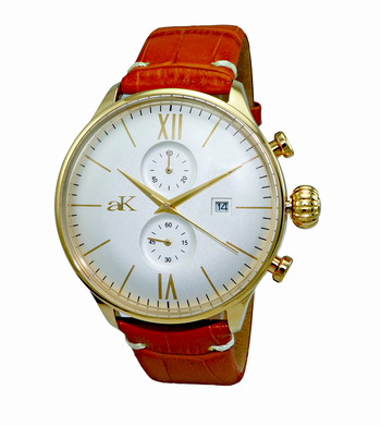 CHRONOGRAPH MOV'T,  DAY-DATE COUNTER, AK2376-MGSV, RETAIL AT $495.00