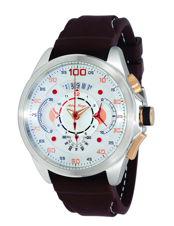 CHRONOGRAPH MOV'T,  DAY-DATE COUNTER, AK8900-MBN,  RETAIL AT $600.00