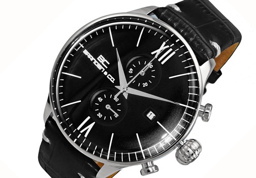 CHRONOGRAPH MOV'T,  DAY-DATE COUNTER, BC6565-MBK_LBK, RETAIL AT (MSRP: $595.00)