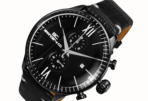 CHRONOGRAPH MOV'T,  DAY-DATE COUNTER, BC6565-MIPBK_LBK, RETAIL AT (MSRP: $595.00)