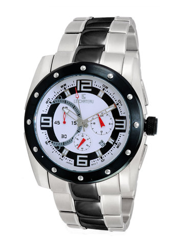 Chronograph Movt .,LeChateau LC-5703-2T/IP_WT, RETAIL AT $479.00