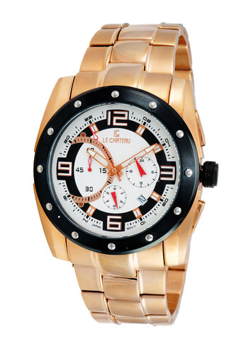Chronograph Movt .,LeChateau LC-5703-LRGIP_WT, RETAIL AT $479.00