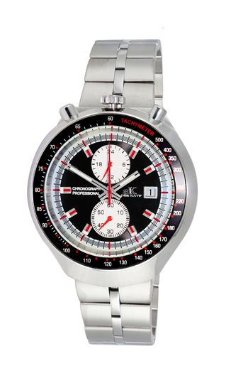 CHRONOGRAPH WITH 24-HOUR DISPLAY, TACHYMETER, AK5662-MBK - RETAIL AT $725.0