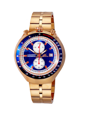 CHRONOGRAPH WITH 24-HOUR DISPLAY, TACHYMETER, AK5662-MRGBU - RETAIL AT $725.00