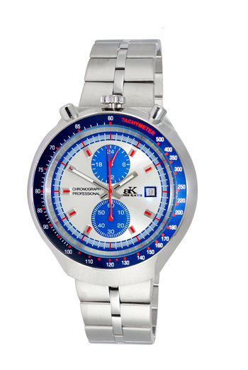CHRONOGRAPH WITH 24-HOUR DISPLAY, TACHYMETER, AK5662-MSV - RETAIL AT $725.00