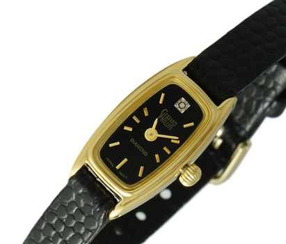 GOLD TONE, STAINLESS STEEL, JAPAN MOV'T , LC5095-LGBK, RETAIL AT $299.00