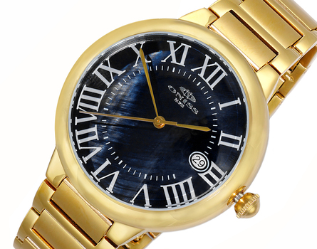 H35 - AUTOMATIC MOVEMENT, DATE - MOP DIAL, ON2222-MGBK - RETAIL AT $620.00