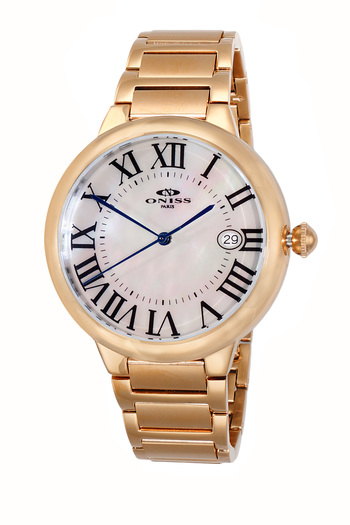 H35 - AUTOMATIC MOVEMENT, DATE - MOP DIAL, ON2222-MRGWT - RETAIL AT $620.00