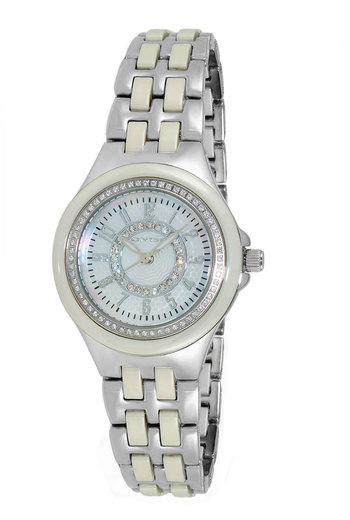 HIGH TECH CERAMIC, AUSTRIAN CRYSTAL ACCENT, MOP DIAL, ON2430-11_LIVY, RETAIL AT  $375.00