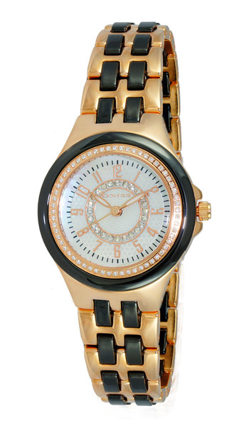 HIGH TECH CERAMIC, AUSTRIAN CRYSTAL ACCENT, MOP DIAL, ON2430-13_LRGBK, RETAIL AT  $375.00