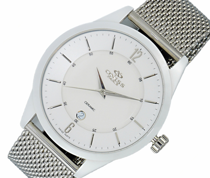 HIGH TECH CERAMIC, SWISS PARTS MOVEMENT, SAPPHIRE CRYSTAL, ON438-MWHT/MESH, RETAIL AT $695.00