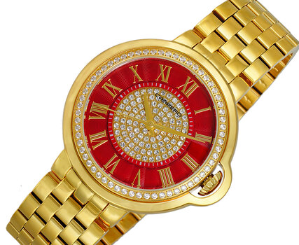 Ladies Watch, Swiss Quartz Movement, Austrian Setting, LCL1G04RD, Retail at MSRP : $1,320.00