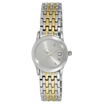 Le Chateau (Bianci) Swiss Women's All Stainless Steel Silver & Gold Tone Date Watch,   (Retail at MSRP $:495.00)